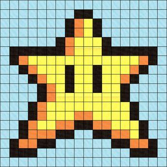 Patron Pattern Fleur De Feu Super Mario Nintendo En Per