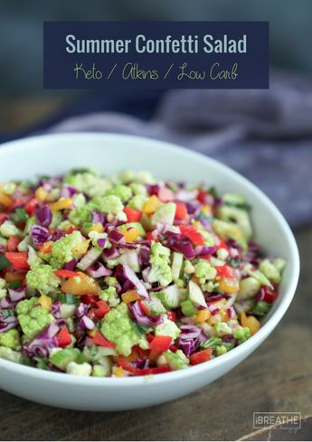 Summer Confetti Salad-Low Carb and Gluten Free