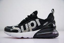 check out a3d4b b72d0 Supreme x Nike Air Max 270 Black/White Men's Running Shoes