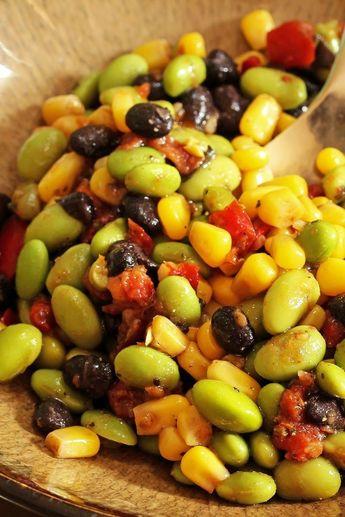 Edamame, Corn, and Black Bean Salad