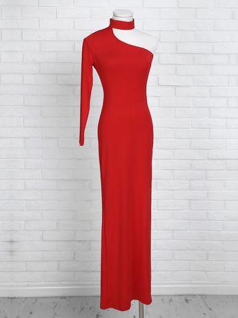 Choker One Shoulder Thigh Slit Party Dress