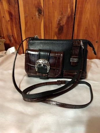 8e672056d1 Brighton Handbag Black Leather with Brown Tortoise Accents-beautiful  -Reduced!!!
