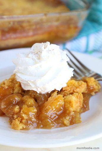 Caramel Apple Dump Cake - Just 4 Ingredients!! - Mom Foodie