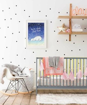 4e15a0a6527 Night Night Sleep tight - Polar bear poster winter animal neutral nursery  decor good night print