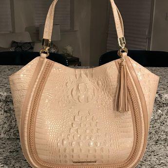 Brahmin Thelma Dalton Nwt! Braided Whipstitch Leather Melbourne Handbag  Sunglow Beige Cream Tan Tote Bag 952dc33f99aae