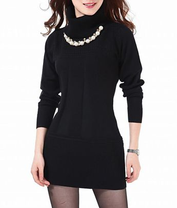 1bbd3153 Casual Turtleneck Knitted Dress Casual Turtleneck Knitted Dress
