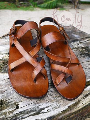 a37cfe47f Handmade Brown Leather Sandals