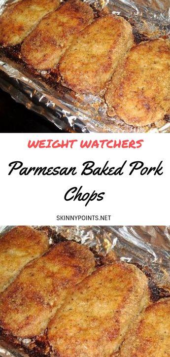 Parmesan Baked Pork Chops - #weight_watchers #weight_watchers_meals #Baked #Parmesan #pinwheels #ww #ww_recipes #Pork #Chops