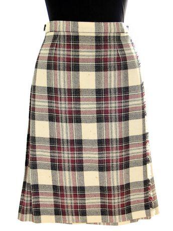 494e6ab36e99 Vintage Scottish Plaid Kilt Skirt Pitlochry 100% Wool