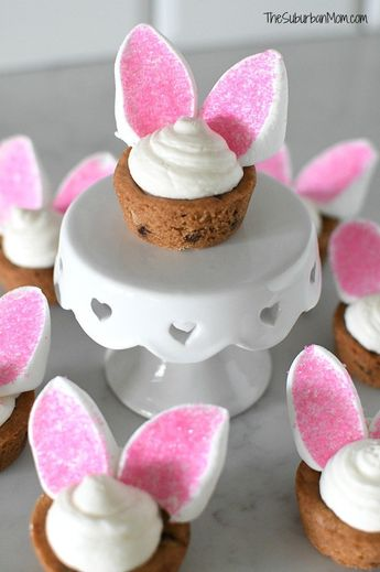 Easter Bunny Cookie Cups