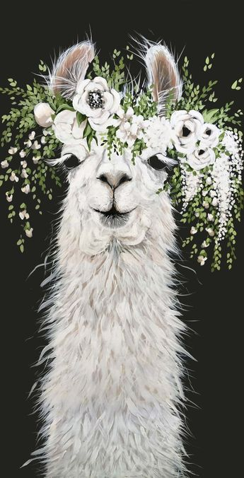 Dolly Llama Paper Print
