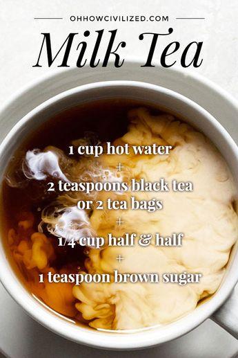 Creamy, warming milk tea. #milktea #teawithmilk