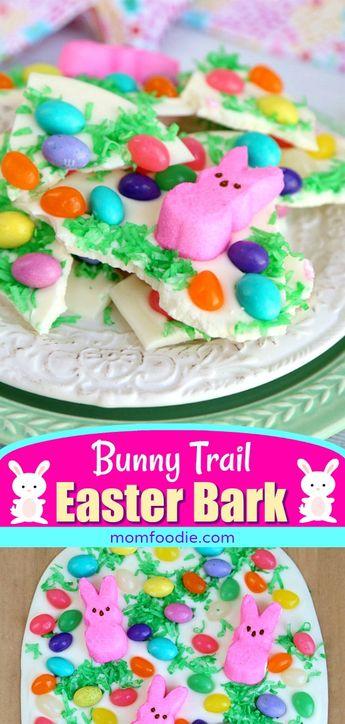 Easter Bark - Peeps Bunny White Chocolate Bark , easy Easter dessert treat!