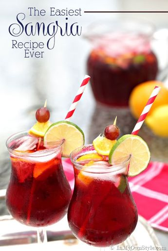 The Best and Easiest Sangria Recipe Ever