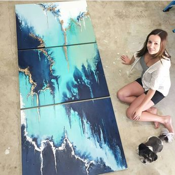 "1,623 mentions J'aime, 39 commentaires - Fluid/Resin/Acrylic/Dirty Pour (@fluidartwork) sur Instagram : ""Meet Jess from Bunbury, Western Australia with her large commission piece. @jess_seroka_artist…"""