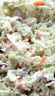 1 cup mayonnaise 2 tablespoons dijon mustard 2 tablespoons apple cider vinegar 3 tablespoons sugar 3/4 teaspoon kosher salt 1 teaspoon onion powder or 1 tablespoon finely grated onion 2 teaspoons celery seeds 1 16 ounce bag of coleslaw mix, plain cabbage or tri-color deli style In a large bowl, stir together the mayonnaise, mustard, vinegar, sugar, salt, onion powder, and celery seeds. Add the shredded cabbage and toss until well coated. Refrigerate for an hour before serving Enjoy!