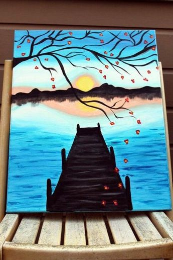 60 Easy and Beautiful DIY Canvas Painting Ideas For Your Home