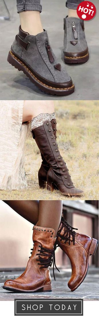 Womens Chelsea Flat Ankle Boots,Women Vintage Medieval High Martin Boots,Back Zipper Vintage Lace-Up Holiday Mid-calf Boots
