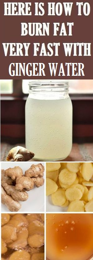 Burn Fat Very Fast With Ginger Water