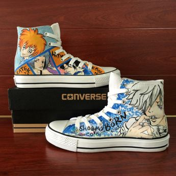 Hitman Reborn Anime Converse Shoes Hand Painted Canvas Sneaker dd4ca1babe05