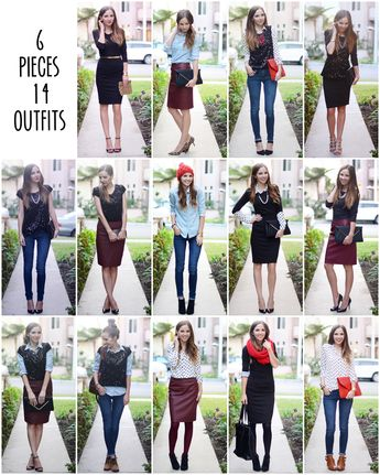 6 pieces of clothing, 14 outfits!