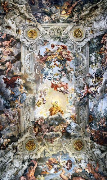 Pietro da Cortona, Decke des Palazzo Barberini, 1633-1639 - #Barberini #Cortona #da #Decke #des #Palazzo #Pietro - Lloyd