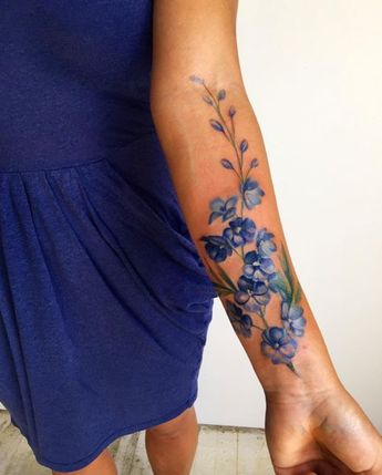 I Love This Floral Print For A Tattoo Looks Like Pressed F