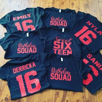 Sweet 16 Birthday Squad Shirts Queen Shirt Personalized