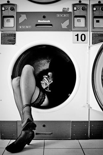Black & White Photography Inspiration : Oooh...so tough when you wake up the morning after in a laundry mat dryer... But...