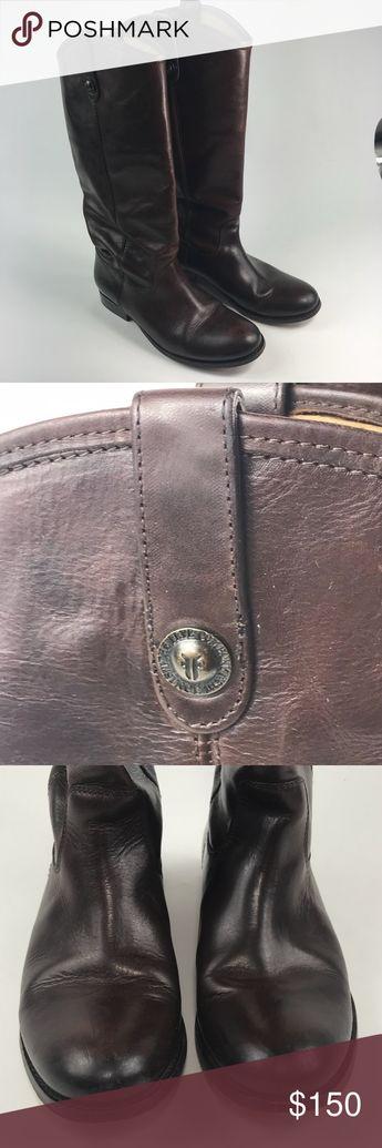 23e67efe682 HP ⭐ FRYE Melissa Boot Wide Calf Vintage Leather FRYE Melissa Button Boot  Wide Calf