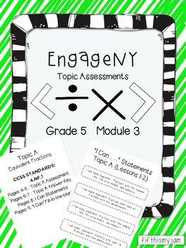 This product includes topic assessments for all of 5th Gra