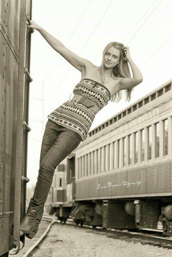 Senior Portraits / Photography - Train Yard