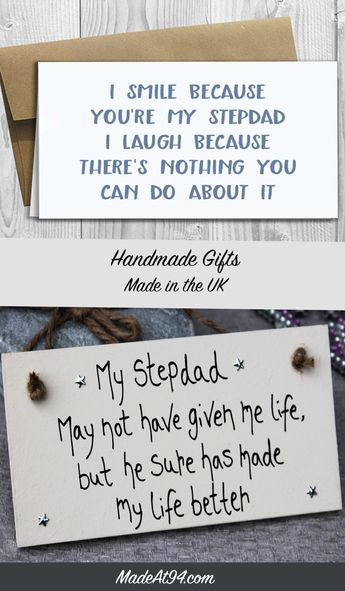 Stepdad Gift Plaque For Birthday And Fathers Day Present
