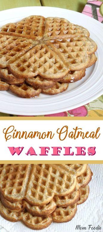 Cinnamon Oatmeal Waffles Recipe - Healthy breakfast.