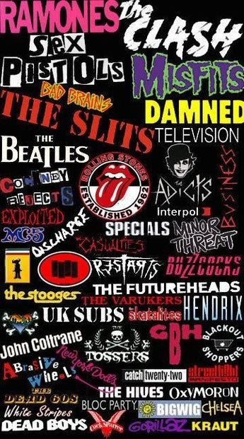 Rock n' Roll music bands.