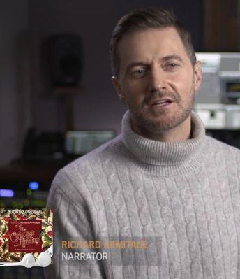 RA recording Christmas Hirelings for audible.com