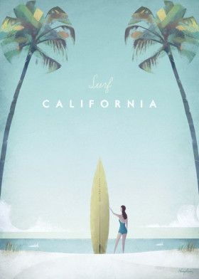 California by Henry Rivers | metal posters