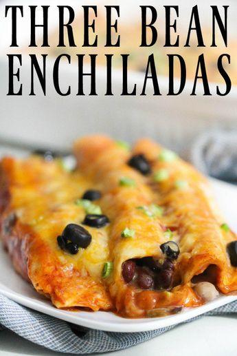 Three Bean Enchiladas