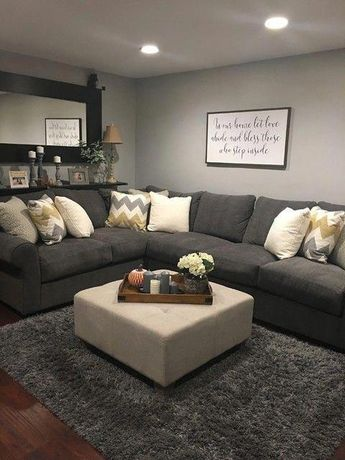 Aurora 2 Piece Sectional #basementdecorationideaseasydiy #livingroomdesign