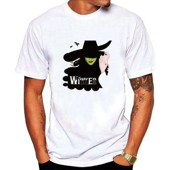 e16f8c5c Summer Shirt Tops Tee-Men's Wicked Broadway musical play T shirt Black