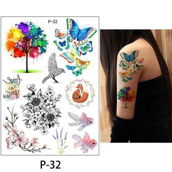 875720201 New Style Professional Style Temporary Tattoo Rose Flower Sets 4 Pieces  Tons Of Styles