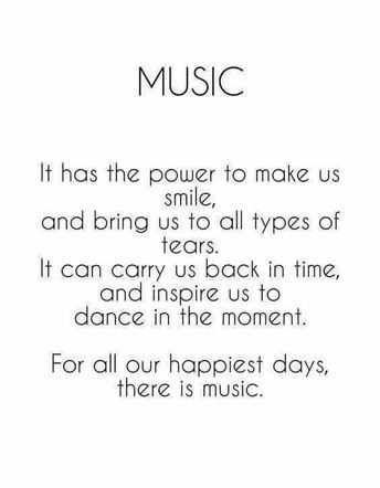 I couldn't be without music in my life....I grew up around music....my dad strummed his guitar and always had music playin....cousins play bluegrass and my mama sang in a band when I was little...it's in my soul 🎤🎵🎶💕