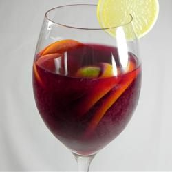 Classic Spanish Sangria.....This is an authentic version of the popular wine drink. You can add any fruit that you want, but I find that apples and pears absorb all the rum. This one is not diluted with carbonated beverages. I have much success with red Burgundy wine and white rum, though spiced rum is nice too.