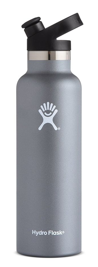 AmazonSmile : Hydro Flask Stainless Steel Vacuum Insulated Sports Water Bottle with Cap, Graphite, 21 Ounce : Sports & Outdoors