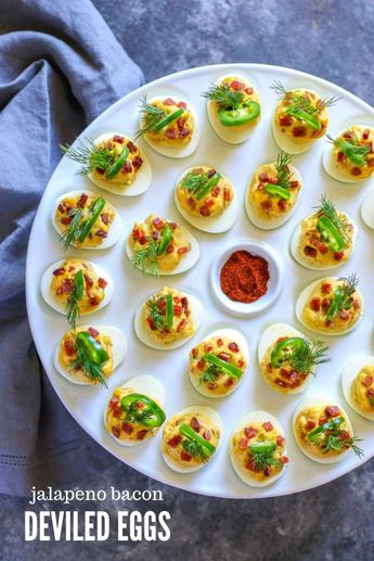 Jalapeno Bacon Deviled Eggs