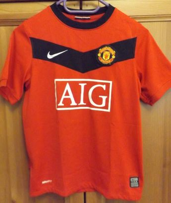 4ad138867f5 MANCHESTER UNITED EPL Retro 2009 10 Home Soccer Jersey Red Devils Football  Shirt