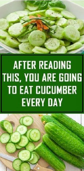 After You Read This, You Are Going To Eat Cucumber Every Day