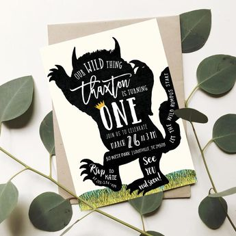 picture regarding Let the Wild Rumpus Start Printable named Wild A single Invitation Boy Wild One particular Birthday Occasion