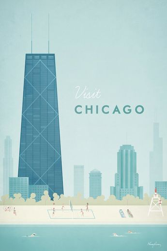 Chicago Canvas Artwork by Henry Rivers
