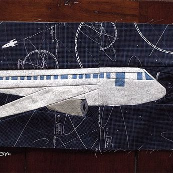 Sew up this airplane quilt block with a few easy tips from Ants to Sugar.